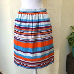 J Crew Striped Pencil Skirt Size 4